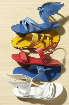 Bold, bright summer sandals.