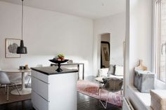 A white and grey Malmö apartment