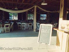 Barn Hall Reception - Cedar Hill Farm- Hernando, Ms
