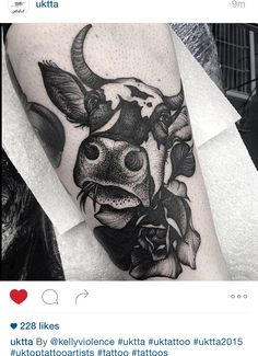 Cow tattoo