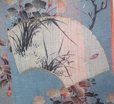 Kimono (details)    Museum quality Furisode dating to the late 1700s, Kanazawa Area