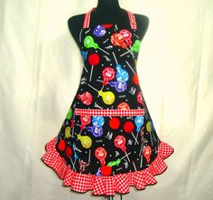 Retro Kitchen Apron Tootsie Pops Candy