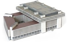 Free download paper model of J. Edgar Hoover FBI Building