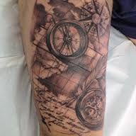 Bildresultat för nautical compass map tattoo