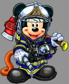 Cross Stitch Chart of Firefighter Mickey Mouse Firefighter Family, Firefighter Paramedic, Firefighter Decor, Volunteer Firefighter, Firefighter Tattoos, Firefighter Pictures, Firefighter Quotes, Disney Kunst, Arte Disney