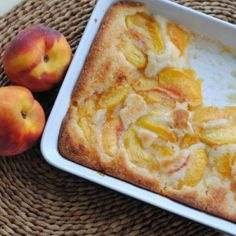 Peach Cobbler    1 stick (8 tablespoons) butter  1 1/2 cups all-purpose flour  1 1/2 cups sugar, plus 2 tablespoons  2 teaspoons baking powder  1/2 teaspoon salt  1 1/2 cups milk  1 teaspoon almond extract, divided  2 pounds peaches, peeled and sliced (about 4 cups)