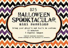 Halloween Mini Sessions- good idea for future business!