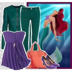 """Modern Disney Princess: Ariel"" by darksweetlady on Polyvore"