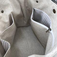 【受注製作】sizeM natural 麻かごスクエアトート|トートバッグ|Little-w|ハンドメイド通販・販売のCreema
