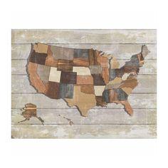 Wooden America Map Print - Dot & Bo