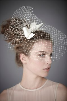Sainted Sister Blusher Veil in SHOP The Bride Veils & Headpieces at BHLDN