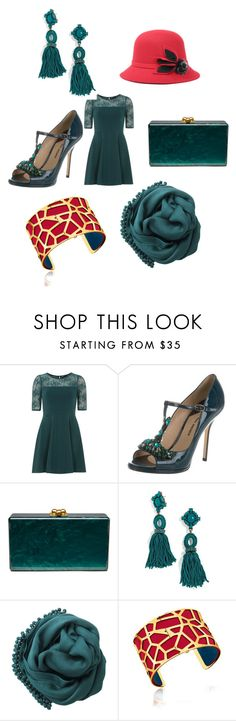 """Untitled #5512"" by brittklein ❤ liked on Polyvore featuring Dorothy Perkins, Paul Andrew, Edie Parker, BaubleBar, Bajra and Les Georgettes"