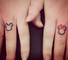 40 Awesome Finger Tattoos. Cutest couple tattoo I have ever seen!!