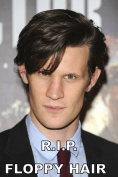 Matt Smith Has Shaved His Head <-- Sad. Day. maybe we could just put a grave for his hair next to amy and rory...or one of the claras...<<-Go to your room.