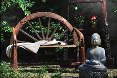Bancuta din lemn masiv, Thailanda - Exotique.ro Garden Sculpture, Buddha, Statue, Retro, Outdoor Decor, Home Decor, Art, Exotic, Art Background