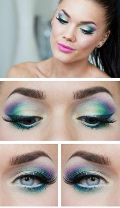 Linda Hallberg. eyeshadow. mermaid look.