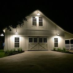 I like the farm at night #Homesweethome (barn by @woodtextx ) :: joanna gaines