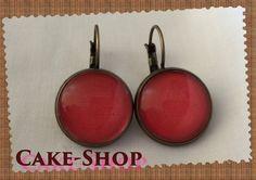 """B.O. cabochons 14mm """"nuance red jean's used"""" de Cake shop - Bijoux gourmands sur DaWanda.com"""