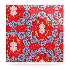 "Kess InHouse Miranda Mol ""Frosted Red"" Blue Luxe Square Panel, 10 by 10-Inch Kess InHouse http://www.amazon.com/dp/B00PCF6GBU/ref=cm_sw_r_pi_dp_6XGxub137FE0X"