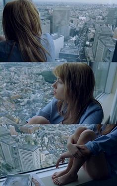 Sublime Lost in translation de Sofia Coppola (2003), qui reste pour moi son film le plus abouti et l'un de mes films favoris. J'adore ces images de Scarlett Johansson qui regarde Tokyo.