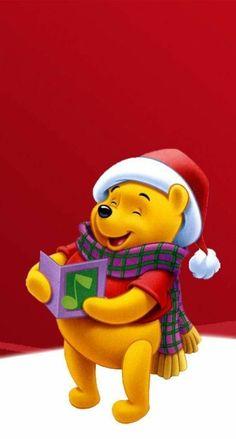 Winnie The Pooh Christmas Winnie The Pooh Christmas Cute throughout The Brilliant Winnie Pooh Zedge Wallpaper - All Cartoon Wallpapers Winnie The Pooh Cartoon, Winne The Pooh, Cute Winnie The Pooh, Winnie The Pooh Friends, Mickey And Friends, Christmas Story Books, Christmas Art, Christmas Sayings, Pooh Bear