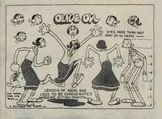 olive oyl model sheet - Cerca con Google