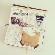 Flip your journal around....page layouts don't have to always be one way.