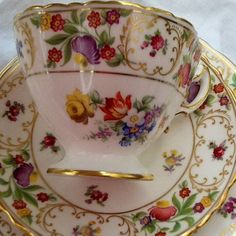 Beautiful Hammersley English bone china tea cup and saucer~Dresden Tea Cup Saucer, Cup And Saucer Set, Teapots And Cups, Teacups, Vintage Cups, Vintage China, Bone China Tea Cups, My Cup Of Tea, China Patterns