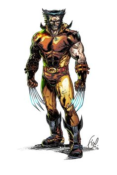 Wolverine by Fico Ossio Wolverine Comics, Wolverine Logan, Dc Comics, Comic Book Characters, Marvel Characters, Comic Character, Comic Books Art, Comic Art, Book Art