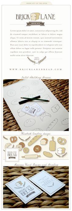 fresh out of the oven.branding for bricklane bread — Silverbox Bakery Logo Design, Branding Design, Custom Business Cards, Business Card Design, Web Design, Timeline Design, Graphic Design Typography, Presentation Design, Logo Nasa