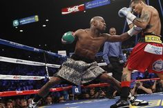 Mayweather did a (two-month) stint in prison following a plea deal (the bargain helped him avoid charges that could have led to up to 34 years in jail); the sentencing judge agreed to delay the start of the prison term so Mayweather could fight Miguel Cotto over the weekend of Cinco de Mayo. The reason for the extension? Mayweather's economic value to Vegas.