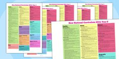 2014 Curriculum Overview Posters Year 1 to 6