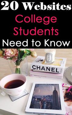 20 Websites College students Need to Know such as student rate to find discounts for students - rate my professors - prezi free presentation software - mint budget apps - betchas opinions website - audible free books and textbooks - Huffington Post college edition : especially for how to get a job after college - etc