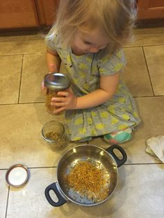 """""""Oh wow! You make your own wet wipes!"""" This sentence often comes with an awestruck look. I want to show you though, that it is super simple. So simple, even a toddler can do it. To be exact, June w..."""