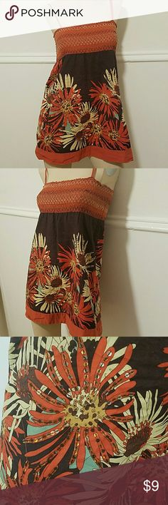 Forever 21 Orange and brown print top Orange and brown print top Forever 21 Tops