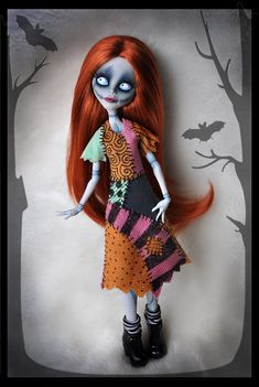 [Ghoulia Yelps] as Sally from Nightmare Before Christmas
