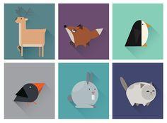 https://www.behance.net/gallery/18143759/Geometric-animals-icons