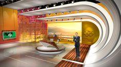 NBC Rio Olympics News Set - International Broadcast Center in Rio de Janeiro, Brazil