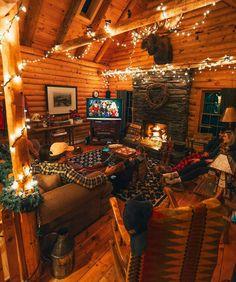 23 Wild Log Cabin Decor Ideas 23 Wild Log Cabin Decor Ideas - Best of. Winter Cabin, Cozy Cabin, Cozy House, Cozy Winter, Cabin Interiors, Log Cabin Homes, Log Cabin Bedrooms, Cozy Place, Christmas Aesthetic