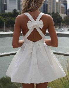 Open bow back white dress.. perf wedding dress for me.. a little longer with some vans.. yes please!!