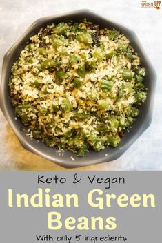 The easiest healthy sauteed green beans dish you can make with oodles of flavour. This Indian style Green beans recipe is made with just 5 ingredients and is ready in 20 minutes. #ketofriendlyIndianrecipe #healthygreenbeans #easyindianrecipe