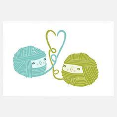 Playful Knitting Wall Art.