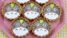 These Totoro Black Sesame Tarts would be the perfect treat for any Totoro lover.