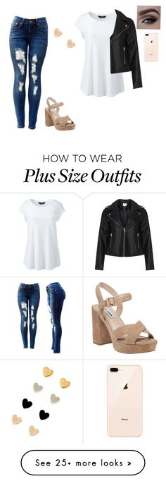 """""""Untitled #126"""" by nabihaalkhafaji on Polyvore featuring Lands' End, Steve Madden, Zizzi and plus size clothing"""