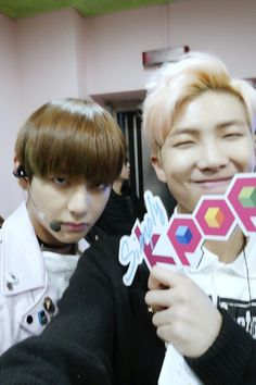 V ( Taehyung ) & Rap Monster - BTS at Simply Kpop Twitter [151225] | btsdiary