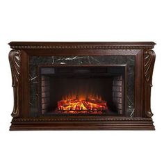 The Outdoor GreatRoom Company Electric Fireplace Insert Home, Home Improvement, Infrared Fireplace, Stove Fireplace, Fireplace Mantels, Wayfair, Fireplace, Southern Enterprises, Fireplace Inserts