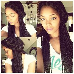 Excellent Senegalese Twists Twists And Hair On Pinterest Hairstyle Inspiration Daily Dogsangcom