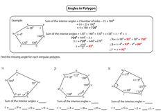 Interior angle of irregular polygon 2nd grade Angles