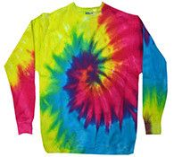 Reactive Rainbow - Tie Dye Sweatshirt or Crewneck