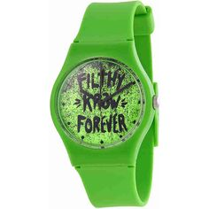 Kr3w Freshman Neon Green Plastic Ladies Watch (1.830 RUB) ❤ liked on Polyvore featuring jewelry, watches, bezel jewelry, neon green watches, water resistant watches, black face watches and bezel watches